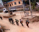 The government army infantry division (ID) 88 destroying and taking property belonging to the monastery and the local villagers